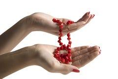 женщина рук шариков Стоковое Фото