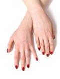 женщина рук 2 Стоковые Фото