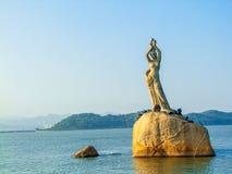 Женщина рыбозаводов Zhuhai стоковые изображения rf