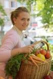 женщина рынка плодоовощ Стоковые Фото
