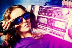 Женщина рэпа стоковое изображение