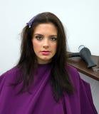 женщина салона волос стоковая фотография