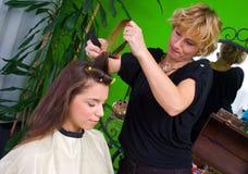 женщина салона волос Стоковые Изображения