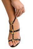 женщина сандалии крепления Стоковая Фотография RF