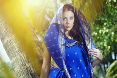 женщина сари Стоковые Фотографии RF