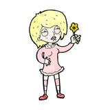 женщина садовника шаржа гордая Стоковые Изображения