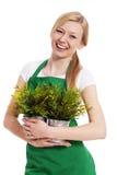 Женщина садовника стоковая фотография rf