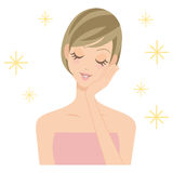 Женщина салона косметики красоты Стоковая Фотография