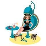 женщина салона фото красотки схематическая Стоковое Изображение
