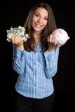 женщина сбережени дег стоковые изображения