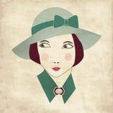 женщина сбора винограда карточки бесплатная иллюстрация