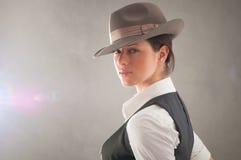 женщина сбора винограда портрета Стоковое Фото