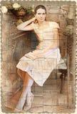 женщина сбора винограда типа книги Стоковые Фото