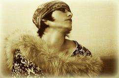 Женщина сбора винограда Стоковые Фотографии RF