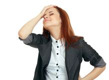 женщина сброса ощупывания Стоковое Изображение