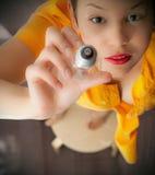 женщина света шарика Стоковая Фотография RF