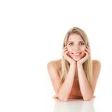 женщина светлых волос длинняя стоковая фотография
