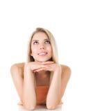 женщина светлых волос длинняя Стоковые Изображения