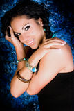 Женщина сексуального коренного американца девушки индийская с оплетками Стоковая Фотография RF