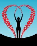 женщина сердец Стоковое фото RF