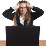 женщина сердитого дела разочарованная Стоковое Фото