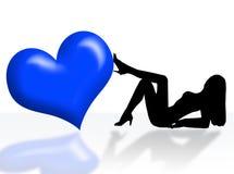 женщина сердца Стоковые Изображения RF