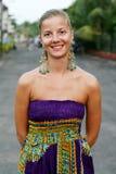 женщина серег Стоковая Фотография RF