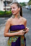 женщина серег Стоковые Фото