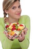 женщина серии салата уклада жизни плодоовощ здоровая Стоковая Фотография RF