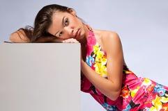 женщина серого цвета кубика Стоковая Фотография RF