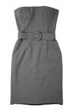 женщина серого цвета платья стоковые изображения