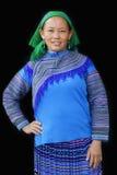 Женщина сельской местности в сини Стоковое фото RF