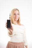 женщина сигареты электронная Стоковое Фото