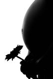 женщина силуэта живота супоросая Стоковая Фотография RF