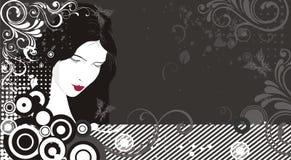 женщина силуэта Стоковые Изображения