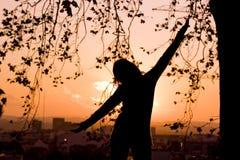 женщина силуэта Стоковое Фото