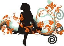женщина силуэта Стоковое Изображение RF