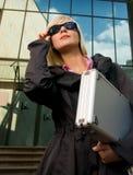 женщина случая серебряная Стоковая Фотография RF