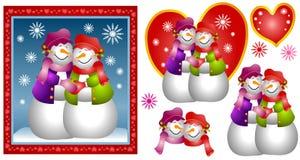 женщина снежка пар карточки лесбосская иллюстрация вектора