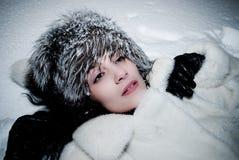 женщина снежка Стоковое фото RF