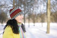 женщина снежка Стоковая Фотография