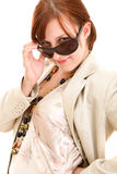 женщина солнечных очков способа Стоковые Фотографии RF