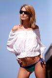женщина солнечных очков Стоковое Фото