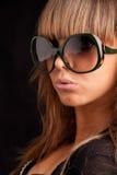 женщина солнечных очков Стоковое Изображение
