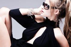 женщина солнечных очков Стоковая Фотография
