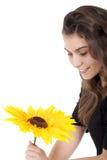 женщина солнцецвета Стоковое фото RF