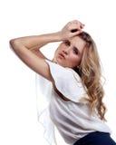 женщина состава стиля причёсок профессиональная Стоковые Фотографии RF