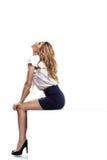 женщина состава стиля причёсок профессиональная Стоковое Фото
