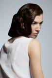 женщина состава стиля причёсок способа брюнет Стоковые Фотографии RF