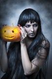 женщина состава halloween сексуальная Стоковые Фотографии RF